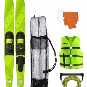 "Allegre 67"" Combo Skis Lime Green Package"
